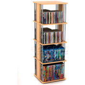Atlantic® Typhoon 216 CD/144 DVD/Blu-Ray/Games Spinner in Maple with Silver Frame