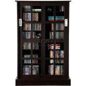Atlantic® Windowpane 576 CD/192 DVD/216 BluRay Wood Look Cabinet w/Sliding Glass Doors Espresso