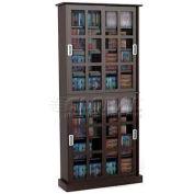 Atlantic® Windowpane 720 Media Cabinet in Espresso