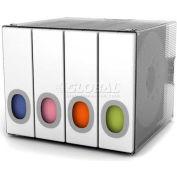 Atlantic® Parade Disc Holder Categorize 96 CDs or DVDs In Color Coded White Binder