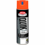 Krylon Industrial Quik-Mark Sb Inverted Marking Paint Fluor. Red/Orange - AT3701007 - Pkg Qty 12