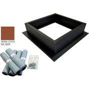 Attic Breeze® Roof Curb Installation Kit, Terra Cotta
