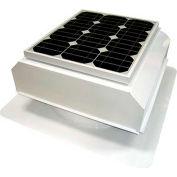 Attic Breeze® Zephyr™ AB-202A-WHT Self-Flashing Attached Solar Attic Fan, 20W, White