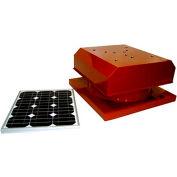 Attic Breeze® Zephyr™ AB-204D-TCT Curb Mount Detached Solar Attic Fan, 20W, Terra Cotta