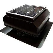 Attic Breeze® Zephyr™ AB-252A-BRN Self-Flashing Attached Solar Attic Fan, 25W, Brown