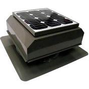 Attic Breeze® Zephyr™ AB-252A-GRY Self-Flashing Attached Solar Attic Fan, 25W, Gray