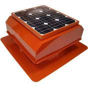 Attic Breeze® Zephyr™ AB-252A-TCT Self-Flashing Attached Solar Attic Fan, 25W,Terra Cotta