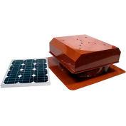 Attic Breeze® Zephyr™ AB-252D-TCT Self-Flashing Detached Solar Attic Fan, 25W,Terra Cotta