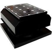 Attic Breeze® Zephyr™ AB-254A-BLK Curb Mount Attached Solar Attic Fan, 25W, Black