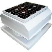 Attic Breeze® Zephyr™ AB-254A-WHT Curb Mount Attached Solar Attic Fan, 25W, White
