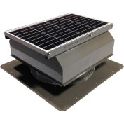 Attic Breeze® GEN 2 AB-4022A-GRY Self-Flashing Attached Solar Attic Fan 40W Gray
