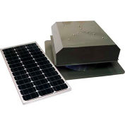 Attic Breeze® Grande™ AB-602-GRY Self-Flashing Detached Solar Attic Fan, Gray