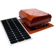 Attic Breeze® Grande™ AB-602-TCT Self-Flashing Detached Solar Attic Fan, Terra Cotta