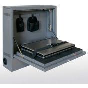 "Sandusky Wall-Mount Laptop Safe/Security Cabinet, 20-5/8""W x 5-1/4""D x 19-1/2""H, Charcoal"