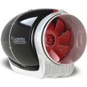 "Vortex S-Line Ultra Quiet In-Line Duct Blower Fan S-600 - 6"", 120V, 347 CFM"
