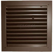 "Fire-Rated Door Louver 1900A1818B, Adjustable Z-Blade, Self-Attach, 18"" X 18"", Bronze"