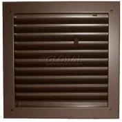 "Fire-Rated Door Louver 1900A2424B, Adjustable Z-Blade, Self-Attach, 24"" X 24"", Bronze"