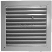 "Fire-Rated Door Louver 1900A2424G, Adjustable Z-Blade, Self-Attach, 24"" X 24"", Gray Primer"
