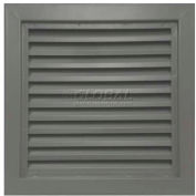 "Steel Door Louver 800A11818G, Inverted ""Y"" Blades, 50% Free Area, 18"" X 18"", Gray Primered"