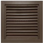 "Steel Door Louver 800A12418B, Inverted ""Y"" Blades, 50% Free Area, 24"" X 18"", Bronze"