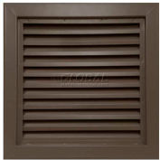 "Steel Door Louver 800A12424B, Inverted ""Y"" Blades, 50% Free Area, 24"" X 24"", Bronze"
