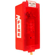 """ABS Plastic Fire Extinguisher Cabinet, 19-1/2"""" H x 6-3/8"""" D, White/Red, Indoor, ABS20WR"""