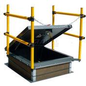 "Roof Hatch, Galvanized, Safety Railing, 30""L x 36'""W"