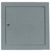 "Multi Purpose Metal Access Panel, Key Lock, Gray, 24""W x 24""H"