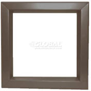 "Steel Louver & Bronze Beveled Vision Lite VLFEZ0535B, 5"" X 35"""