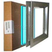 "Louver & Steel Beveled Vision Lite VLFEZ2424B TEMP PAK, 24"" X 24"", Bronze W/Tempered Glaze"