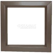 "Louver & Steel Beveled Vision Lite VLFEZ2424B, 24"" X 24"", Bronze"