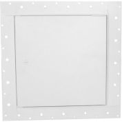 "Concealed Frame Access Panel For Wallboard, Cam Latch, White, 12""W x 12""H"