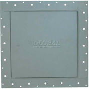 """Concealed Frame Access Panel For Wallboard, Cam Latch, Gray, 14""""W x 14""""H"""