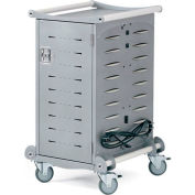 Anthro Standard Laptop Charging Cart, 20 Unit Capacity, Silver Metallic & White