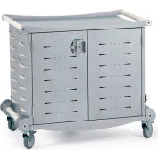 Anthro Standard Laptop Charging Cart, 30 Unit Capacity, Silver Metallic & White