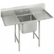 "Regaline 1 Compartment Sink, 16L x20W Bowl, 8 Splash, 18"" Left & Right Drainboards, 16Ga."