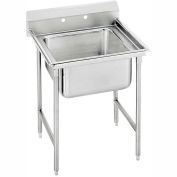 Regaline 1 Compartment Sink, 20L x20W Bowl, 8 Splash, No Drainboards, 16Ga.