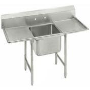 "Regaline 1 Compartment Sink, 20L x20W Bowl, 8 Splash, 18"" Left & Right Drainboards, 16Ga."