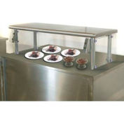"Self Service Food Shield, 12""W x 72""L x 26""H, S/S Top and Center Shelves, Double Tier"