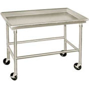"""Advance Tabco SR-48 16 Gauge Sorting Table 304 Stainless Steel - 3"""" Raised Edge 48""""W x 30""""D"""
