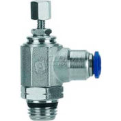 "Alpha Fittings Flow Control 50915N-12-3/8, Knob Adj, Flow In, 12mm, 3/8"" Swift-Fit Universal Thread - Pkg Qty 2"