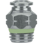 """AIGNEP Straight Male Connector, 60020-10-1/4, 10mm Tube x 1/4"""" BSPP Thread, Stainless Steel"""