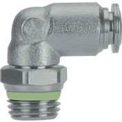 """Alpha Fittings Swivel Male Elbow, 60115-12-1/2, 12mm Tube x 1/2"""" BSPP Thread, Stainless Steel"""