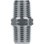 "AIGNEP Hex Pipe Nipple, 82200N-08, 1/2"" NPTF, Nickel Plated Brass - Pkg Qty 3"