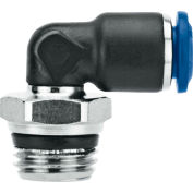 "Alpha Fittings Swivel Elbow, 85110-08-06, 1/2"" Tube x 3/8"" Swift-Fit Univ. Thread, Composite Body - Pkg Qty 3"