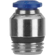 "Alpha Fittings Straight Male 87010-04-32, Internal Hex, 1/4"" Tube x 10-32 UNF Thread - Pkg Qty 5"