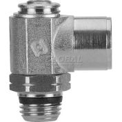 "Alpha Fittings Female Flow Control 88952-02-02, Screw Adj, Flow Out 1/8"" NPTF Female x 1/8"" SwiftFit - Pkg Qty 2"