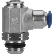 "Alpha Fittings Flow Control 88953-04-04, Screw Adj, Flow Out, 1/4"" Tube x 1/4"" Swift-Fit Universal - Pkg Qty 2"