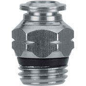 "Alpha Fittings Straight Male, 89000-08-04, 1/2"" Tube x 1/4"" Swift-Fit Univ. Thread, Metallic Collet - Pkg Qty 3"