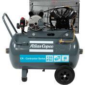 Atlas Copco CR2-SS-24G-115V 1PH 2HP Single-Stage Horizontal Compressor - 135 PSI - 115 Volts